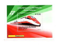 Foglietto Italia  Linea Ferroviaria Alta Velocità  Torino-Salerno 2010