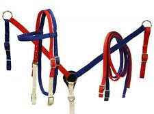 Showman Red, White and Blue Nylon Headstall and Breast Collar Set!