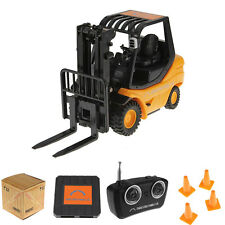 Yellow Mini RC Car Toy Forklift Remote Control Fork Truck Car Gift for Children