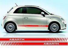Fiat 500 Abarth side stripe decals / stickers