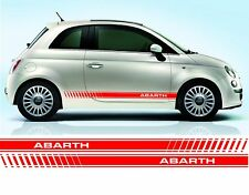 Fiat 500 Abarth raya lateral calcomanías/Pegatinas