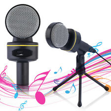 3.5mm Stereo Condenser Recording Microphone Mic For Meeting,MSN,Skype,Singing