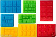 NEW 8pc Candy Molds For Lego Lovers Chocolate Molds, Ice Cube Molds FREE 2 DAY