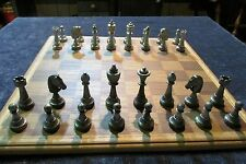 Britannia Pewter Staunton Chess Set  2 3/4 Inch Tall Kings Made In U.S.A.