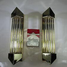 1 VON 2 ART DECO RETRO STIL WANDLAMPEN VINTAGE WANDLEUCHTEN 10mm GLASSTÄBE