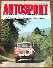 Autosport 25/12/69* 1969 EUROPEAN RALLY SEASON REVIEW - GEORGE EATON - NOMAD