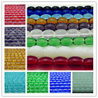 Free Lots Wholesale Glass oval Spacer findings Beads 8mm Many Colors to U Choose