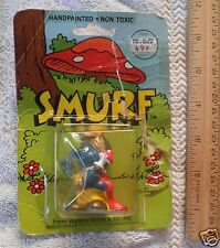 Smurf figure 1982 Wallace Berrie Schleich in package King Gold Crown scepter