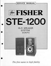 Fisher service manual pour ste-1200
