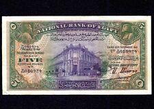 Egypt  5  Pounds  1941   P-19  VF