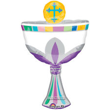 Baptism/Communion Jumbo Cup Cross Foil / Mylar Balloon Shape 31""