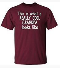 This Is What A Really Cool Grandpa Looks Like Funny T-Shirt, Size M. #m2