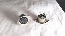 PHILMORE ES5  4 PIN FEMALE CHASSIS MOUNT DIN CONNECTOR LOT OF 2PC