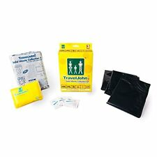 TravelJohn Disposable Solid Waste Bags - 3-Pack for FESTIVALS & CAMPING