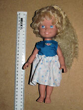 PLAYSKOOL DOLLY SURPRISE 1987 BLUE EYES BLONDE HAIR THAT GROWS AND RETRACTS