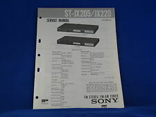 Sony ST-JX205~JX220 Stereo Tuner Service Manual