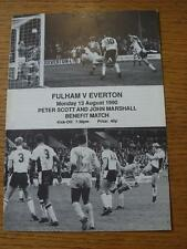 13/08/1990 Fulham v Everton [Peter Scott & John Marshall Benefit Match] . No obv