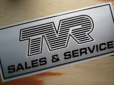 TVR SALES & SERVICE large Workshop Garage Sign Lightbox etc Sticker
