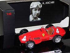 FERRARI 500 F2 #4 BELGIUM GP 1952 A. ASCARI HOT WHEELS ELITE T6274 1/43
