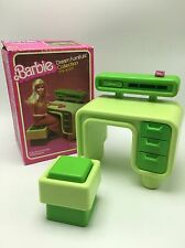 Vintage Mattel Barbie Dream House Furniture Desk & Seat Box 1978