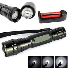 WF-501B 2500LM CREE XM-L T6 LED Flashlight Torch Lamp + 18650 Battery Charger WT