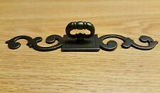 (6) Drawer Pulls with 8 x 1 1/4 Inch Back plate ... Metal with Bronze Finish