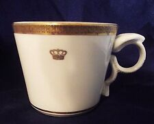 COBRA HANDLE ! Mayer China Co.Mug / Cup HELMSLEY HOTELS Gold Crown 1980 UNUSUAL!