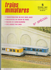 TRAINS MINIATURE N°5 BB 8537 / MAISON GARDE BARRIERE / ABRES / Ae 6/6 ROCO