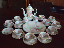 Vintage Bavaria Schumann Arzberg Germany Wild Rose Coffee Tea Set 12+2 Chargers