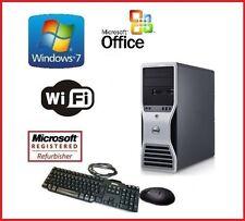 DELL PRECISION WINDOWS 7 XEON QUAD CORE 24GB RAM 1TB HDMI WIFI CUSTOM GAMING PC