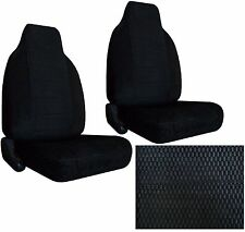 Durable Scottsdale Fabric 2 Black High Back Bucket Car Seat Covers sc-906-bk-9