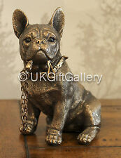 French Bulldog Statue Bronze Dog Ornament WALKIES Dog Studies by Leonardo NEW