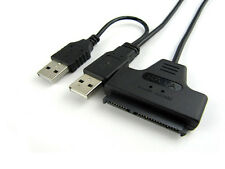 Mini Protable SATA 7+15 Pin to USB 2.0 Cable For 2.5 HDD Laptop Hard Disk Drive