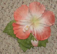 vintage 1940 50s chalkware hibiscus flower wall plaque hawaii hawaiian pua nani