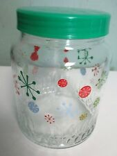 Round Glass Candy Jar with Plastic Screw-on Lid