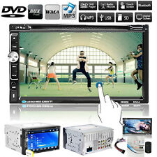 Double DIN Car Head Unit MP3 CD DVD Player FM Stereo Touchscreen USB SD AUX TV