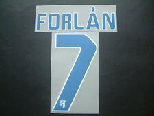 FORLAN NOME+NUMERO HOME ATLETICO MADRID 2010-2011 OFFICIAL NAMESET