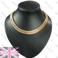 "BIG 18K GOLD TONE FASHION CHAIN 15mm wide SLINKY 18""NECKLACE articulated SNAKE"