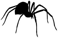 SPIDER VINYL DECAL STICKER WINDOW WALL CAR BUMPER LAPTOP BLACK WIDOW CREEPY