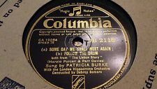 PATRICIA BURKE SOME DAY WE SHALL MEET AGAIN, FOLLOW THE DRUM COLUMBIA DB2118