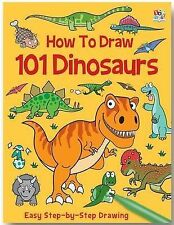 How to Draw 101 Dinosaurs easy step by step activity book