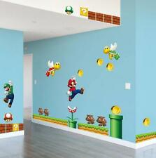 NEW Super Mario Bros Removable Wall Stickers Decal Kids Home Decor ship from U.S