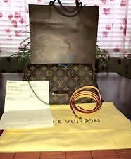 Authentic LOUIS VUITTON MONOGRAM FAVORITE MM W/ Strap BAG PURSE LikeNew