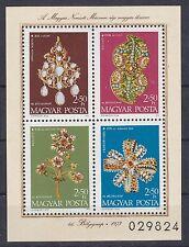 Ungarn 1973 postfrisch MiNr. Block 100A  Schmuck