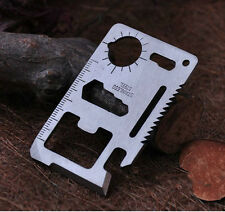 New Multi Pocket Tool 11 in1 Hunting Survival Camping Military Credit Card Knife