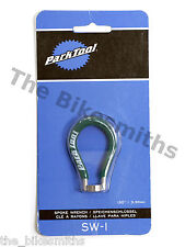 "Park Tool SW-1 Professional Green Spoke Wrench .130"" / 3.30mm Nipples Road Bike"