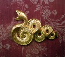 X-Large Raw Brass Serpent Stamping (1) - FFA1258 Jewelry Finding
