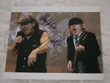 AC/DC Signed Photo Authentic Brian Johnson Angus Young Hand Signed