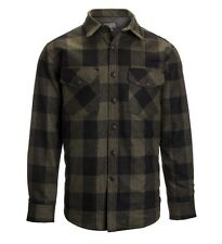 NWT Pendleton 2XL XXL Men's CPO Quilted Wool Overshirt Shirt Jacket Plaid Olive