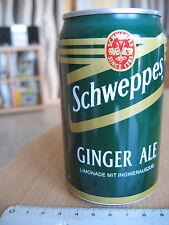 Leere Blechdose 330ml Schweppes Ginger Ale Limonade mit Ingwerauszug von 1996